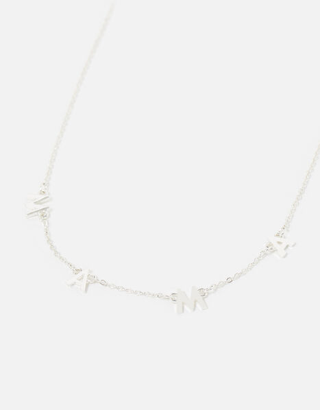 Mama Pendant Necklace Silver, Silver (SILVER), large