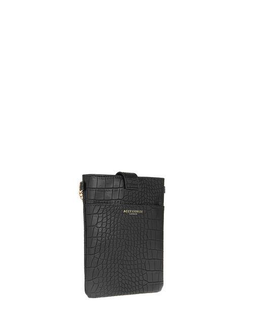 Phone Pouch with Chain, Black (BLACK), large