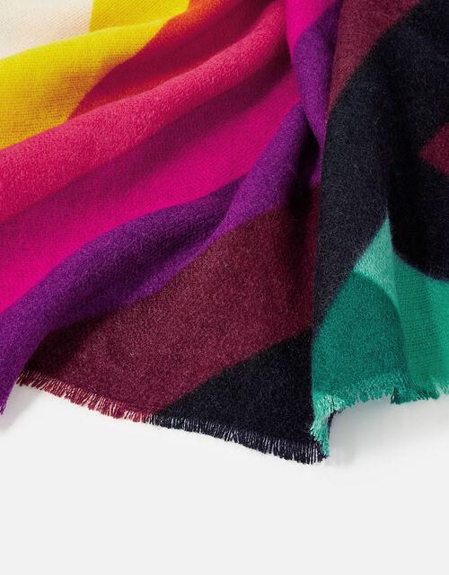 Rainbow Chevron Blanket Scarf, , large