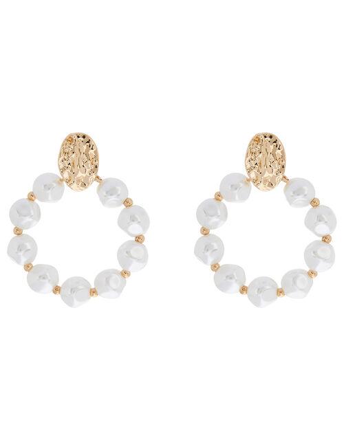 Pearl Circle Earrings, , large