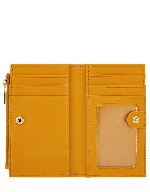 Katy Faux Leather Slim Wallet, Yellow (OCHRE), large