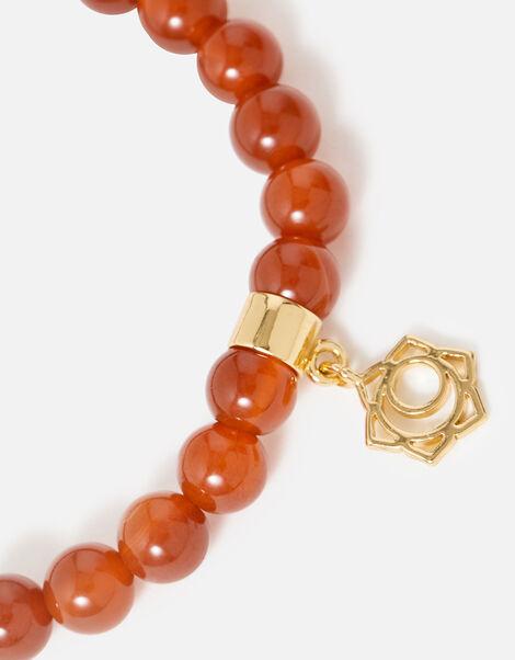 Beaded Sacral Chakra Bracelet, , large