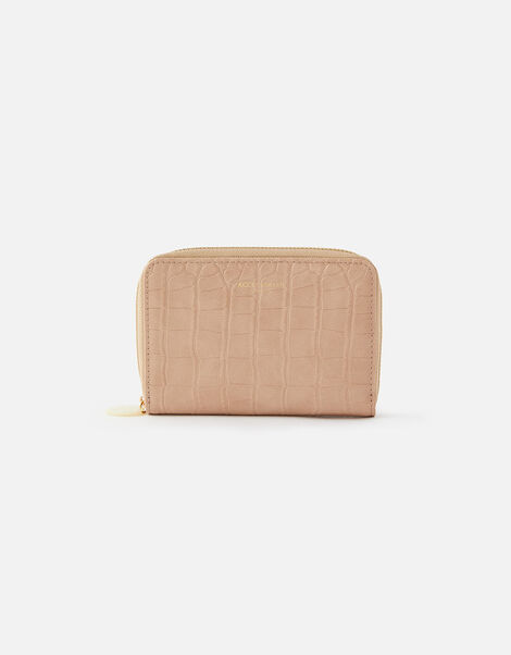 Croc Medium Zip Wallet Nude, Nude (NUDE), large