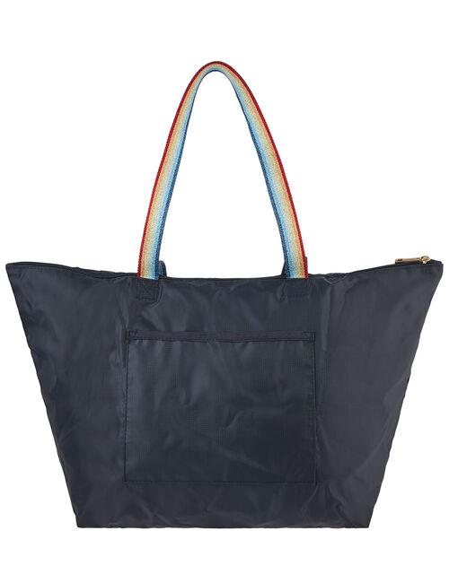Rainbow Strap Packable Shopper Bag, , large