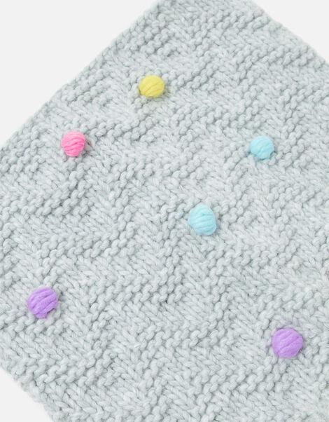 Girls Pom-Pom Knit Snood , , large