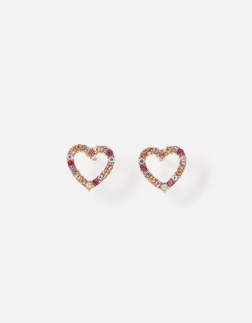 New Decadence Heart Crystal Studs, , large