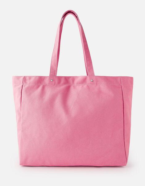 Canvas Shopper Bag Pink, Pink (PINK), large