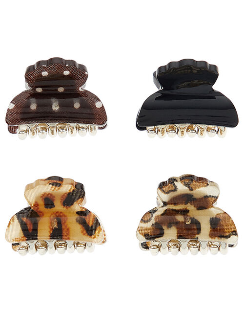 Bulldog Hair Clip Set, , large
