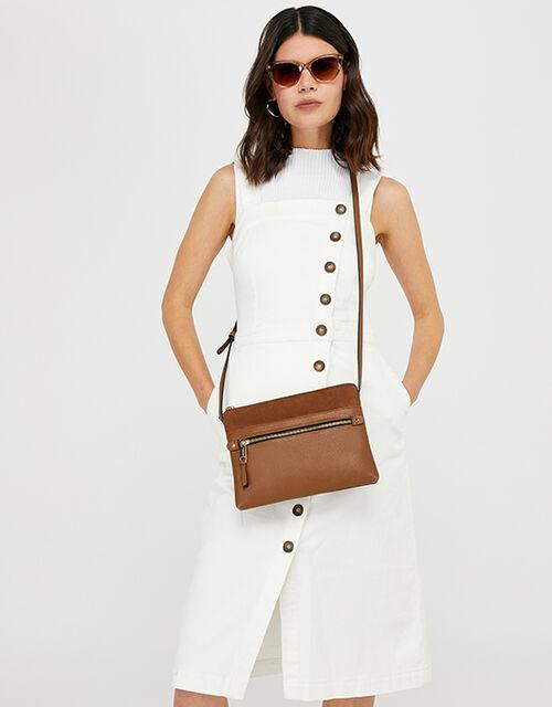 Cross-Body Envelope Bag, Tan (TAN), large