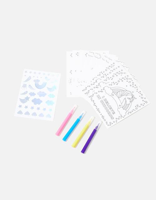 Colour-In Unicorn Postcards, , large