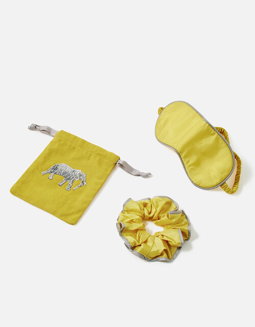 Elephant Silk Eye Mask and Scrunchie Set WWF Collaboration, , large