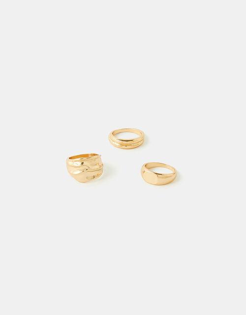 Chunky Ring Set, Gold (GOLD), large