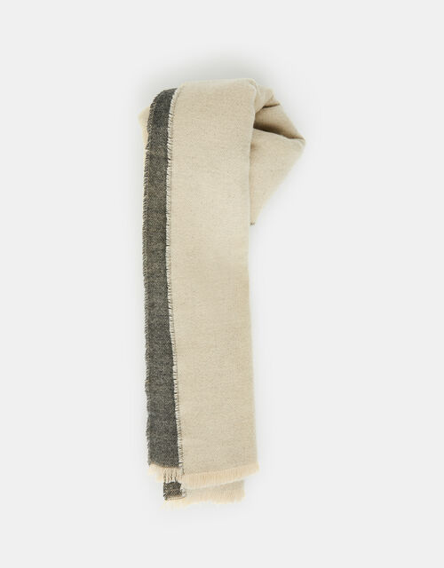 Wells Antibacterial Two-Tone Blanket Scarf Camel and Grey, Multi (PASTEL-MULTI), large