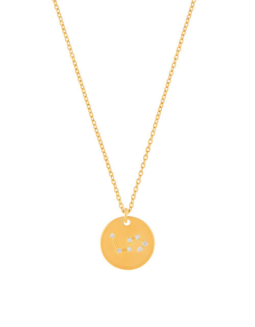 Gold-Plated Constellation Necklace - Leo, , large