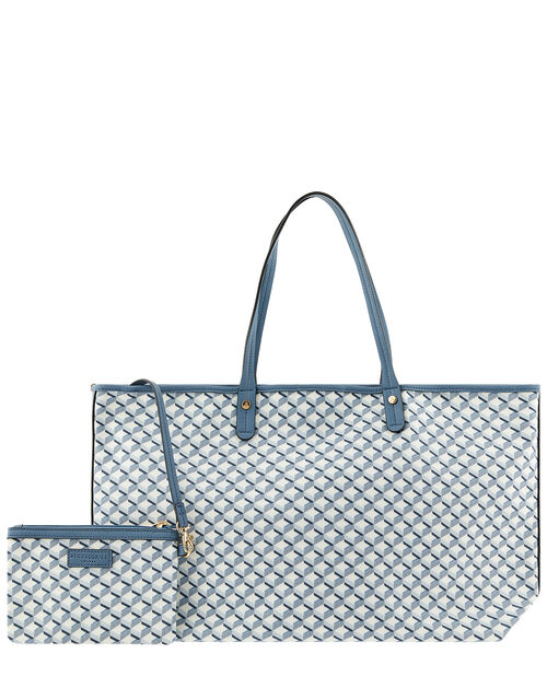 Geometric Print Tote Bag, , large