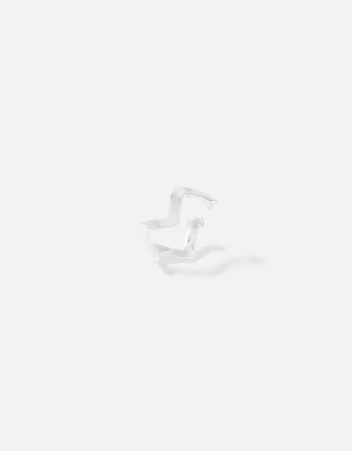 Sterling Silver Zig Zag Ear Cuff , , large