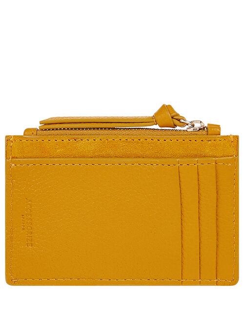 Leather Card Holder, Yellow (OCHRE), large
