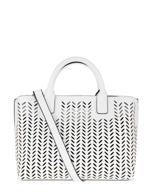Cut-Out Handheld Bag, White (WHITE), large