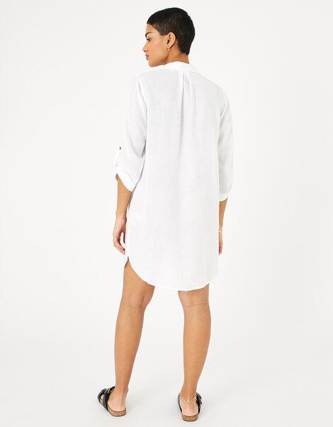 Long Sleeve Beach Shirt with LENZING™ ECOVERO™ White, White (WHITE), large