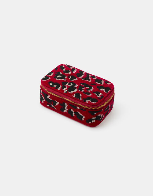 Embroidered Leopard Jewellery Box, , large
