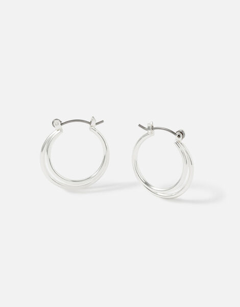 Berry Blush Layered Hoops, , large