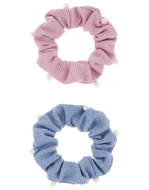 Shimmer Pearl Scrunchie Set, , large