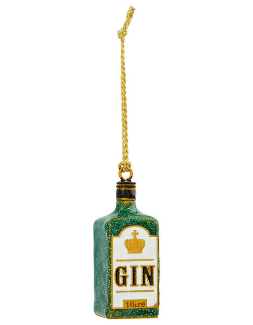 London Gin Bottle Hanging Decoration, , large