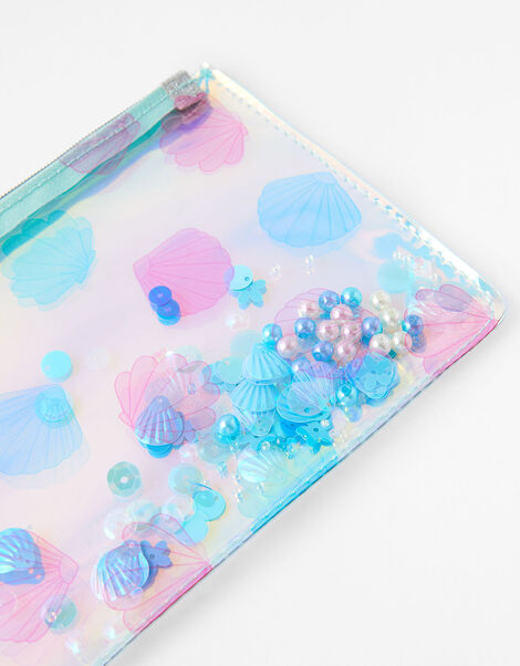 Sequin Shell Shaky Pencil Case, , large