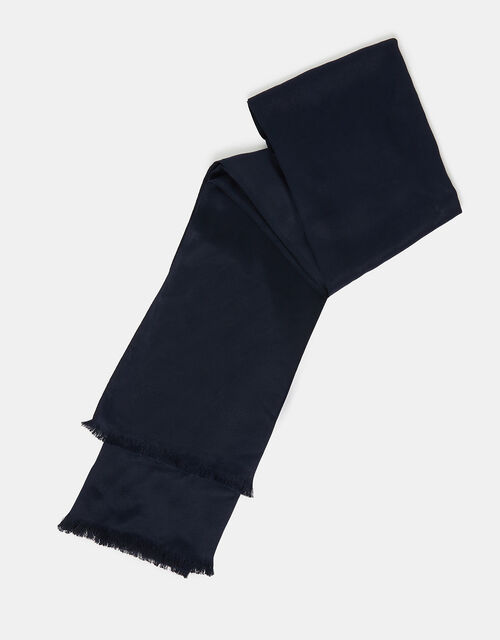 Plain Woven Stole, Blue (NAVY), large