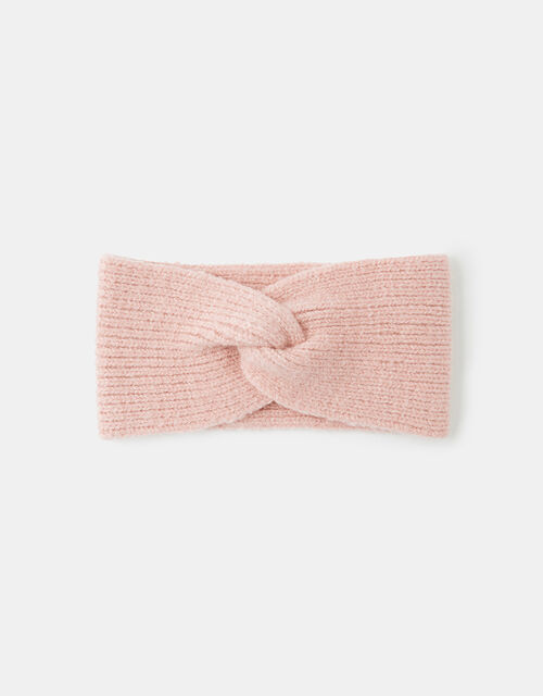 Knit Bando Headband, Pink (PALE PINK), large