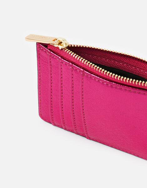 Metallic Shoreditch Card Holder Pink, Pink (FUCHSIA), large