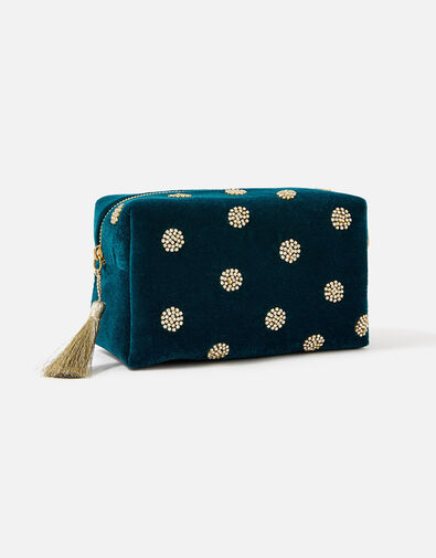 Diamante Polka Dot Makeup Bag, , large