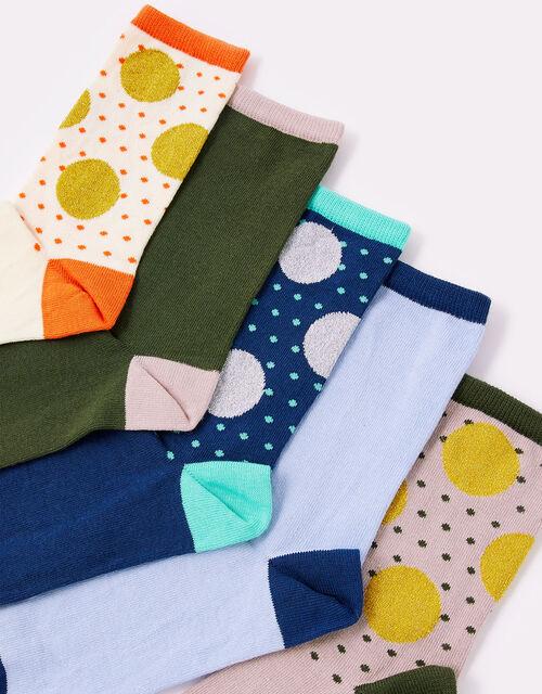 Spot Print Sock Multipack, Multi (BRIGHTS-MULTI), large