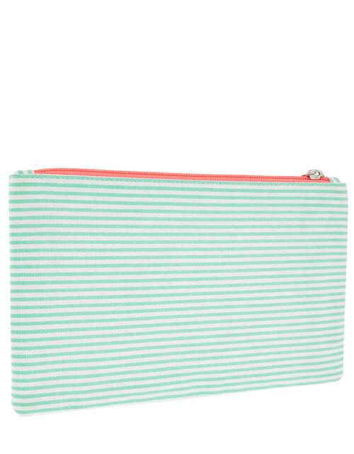 Sunshine Striped Cotton Pencil Pouch, , large