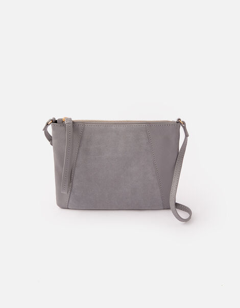 Sophie Leather Cross Body Grey, Grey (GREY), large