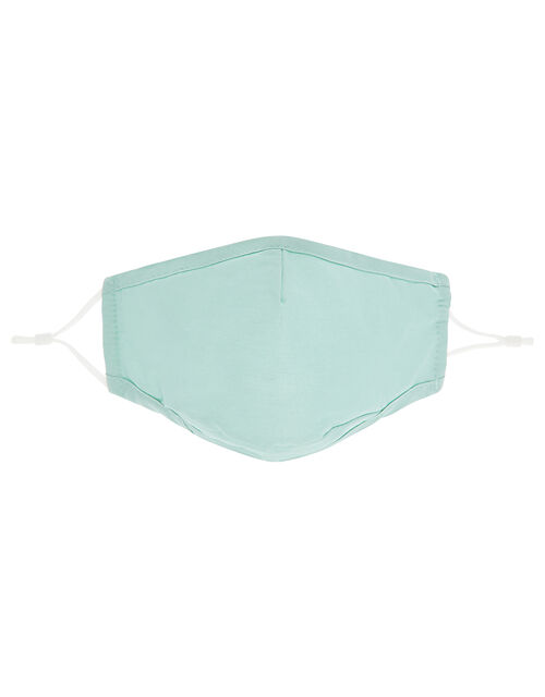 3D Face Covering with Pocket in Pure Cotton, Green (LIGHT GREEN), large