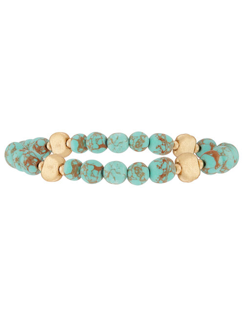 Simple Station Beaded Stretch Bracelet, , large