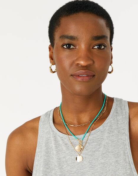 Feel Good Beaded Interchangeable Pendant Necklace, , large