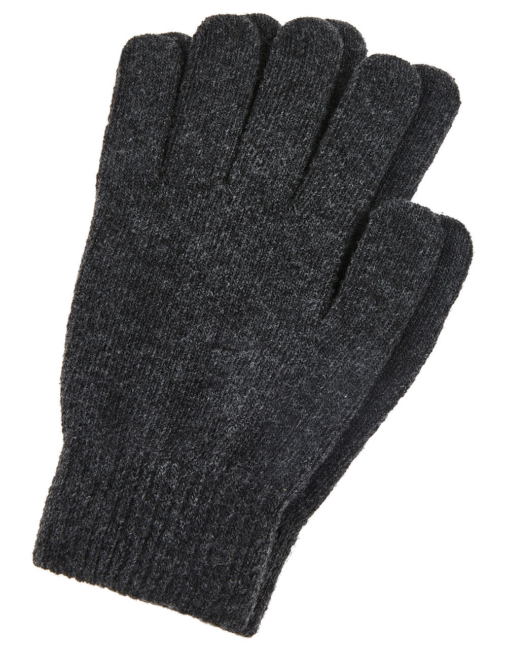 Super-Stretch Gloves with Recycled Polyester, Grey (GREY), large