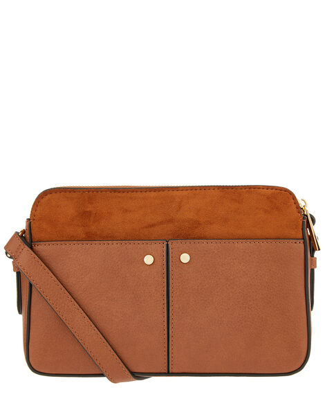 Charlotte Cross-Body Bag Tan, Tan (TAN), large