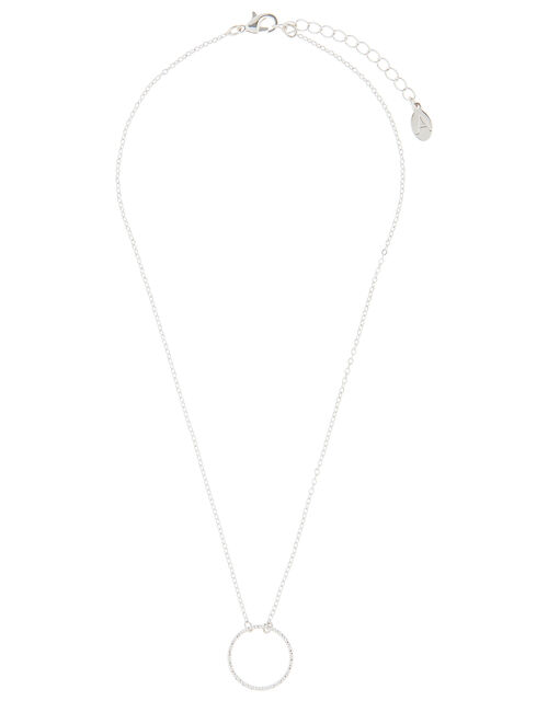 Twisted Circle Ring Necklace, , large