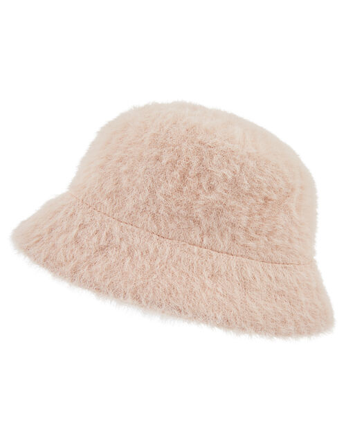 Fluffy Bucket Hat, Pink (PINK), large