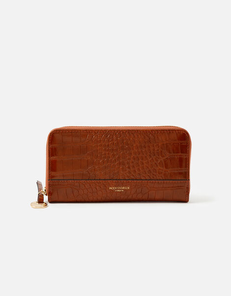 Large Zip Around Wallet Tan, Tan (TAN), large