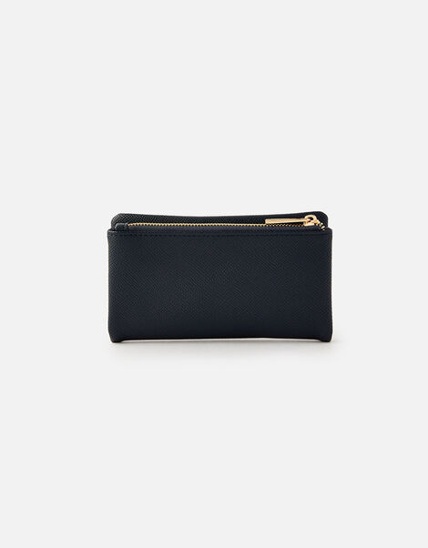 Foldover Zip Coin Purse  Blue, Blue (NAVY), large