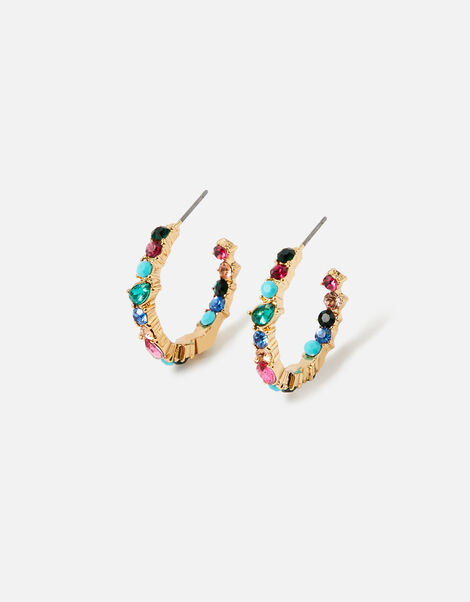 Feel Good Eclectic Stone Hoops, , large