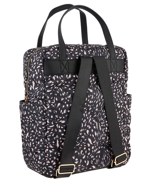 Emmy Brushstroke Print Quilted Backpack, , large