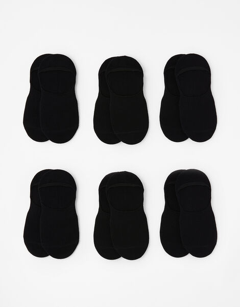 Super-Soft Bamboo Footsie Sock Multipack Black, Black (BLACK), large