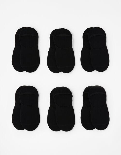 Super-Soft Bamboo Footsie Sock Multipack, Black (BLACK), large