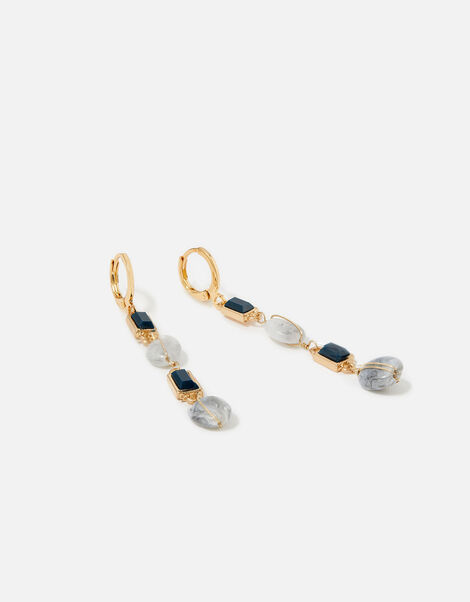 Midnight Sky Square Stone Drop Earrings, , large