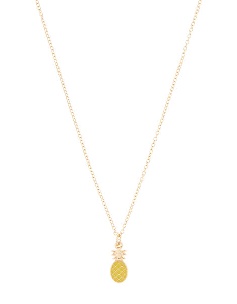 Pineapple Pendant Rope Necklace, , large